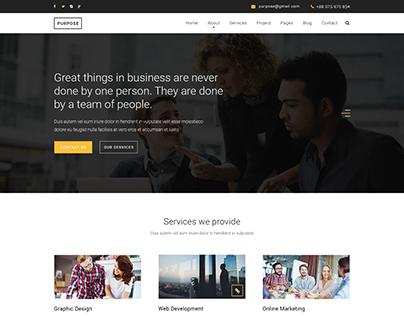 PURPOSE - Creative Business PSD Template