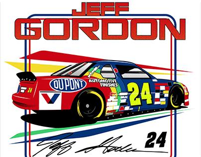 Jeff Gordon Vector Illustration
