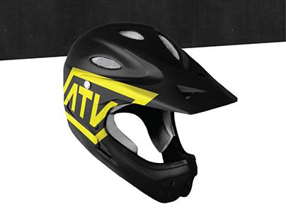 ATV group. Logo, identity, font.