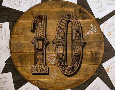 Breckenridge Distillery's 10th Anniversary • Branding