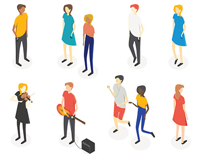 Isometric People