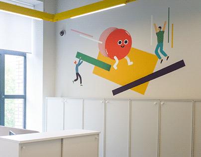 Detsky Mir HQ Murals