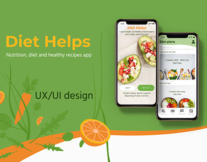 Nutrition Diet App, UX/UI design