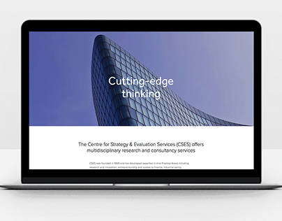 Web, UI/UX  | CSES Company Modern Website