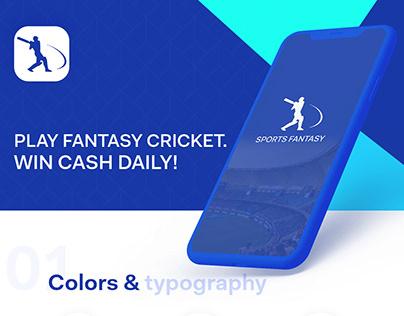 App designer, Cricket , UX/UI design, Dream 11, My team