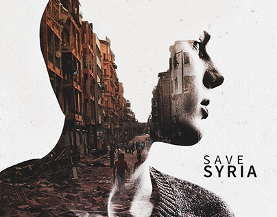 SAVE SYRIA - DOUBLE EXPOSURE