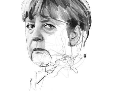 Illustration / Publishing Angela Merkel + Video