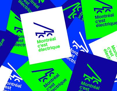 MONTRÉAL C'EST ÉLECTRIQUE – Branding