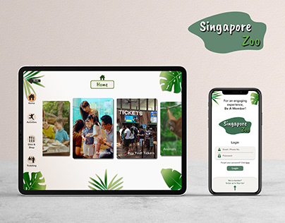 Singapore Zoo Project: Mobile app & Kiosk Prototypes