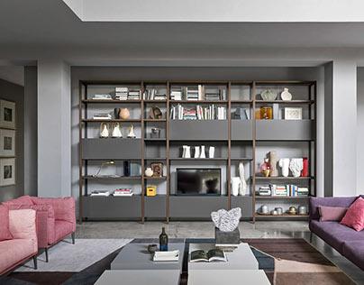 Novamobili industrial shelf in modern look