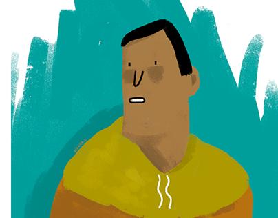 Brown Man Illustration