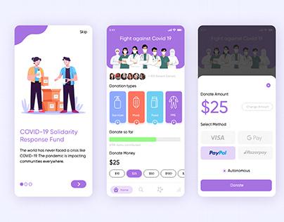 Covid 19 Donation App UI