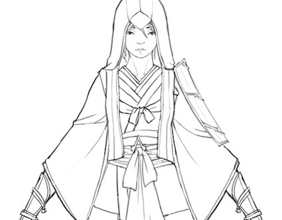 [Practice] imaginary Assassin's Creed character