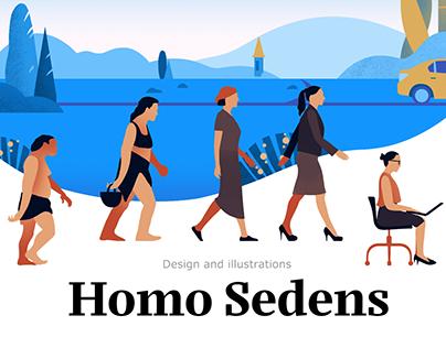 Homo Sedens / Servier
