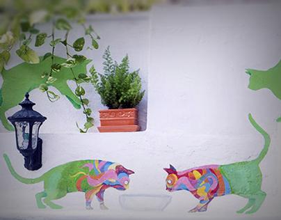 THE HOUSE - wallpainting project mumbai