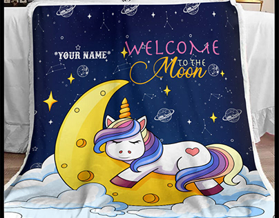Unicorn Blanket by 90 LoveHome on Behance