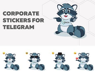 URICH BRAND STICKERS FOR TELEGRAM
