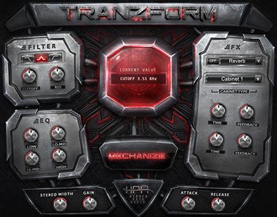 HPA Tranzform Futuristic Fantasy GUI Design for Kontakt