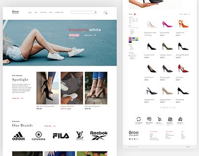 Online Shoe Store Design