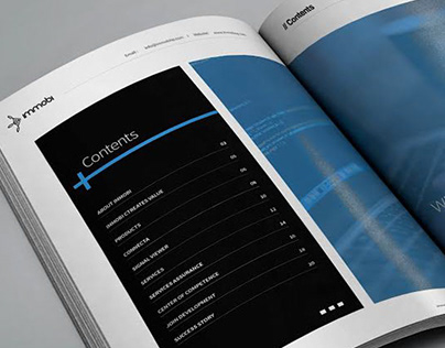 Brochure A4 for Immobi Company