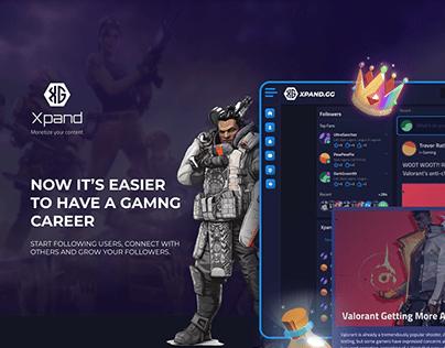 MVP Design - UX & UI design for an eSports platform