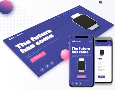 Product Landing Page Concept + Mobile Version