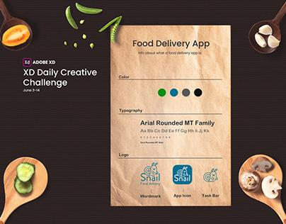 Food Delivery. Adobe XD Daily Creative Challenge