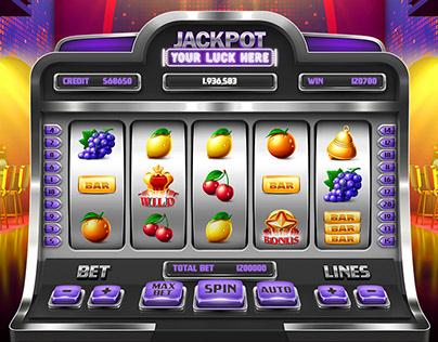Realistic Slot Machine Asset