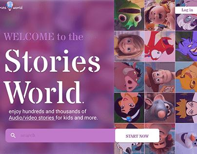 Kids stories website UI Design