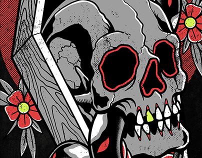 Coffin Skull n Snake [t-shirt design available for sale