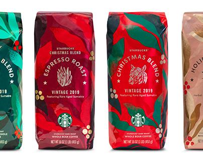 Starbucks Christmas Blend Packaging Design