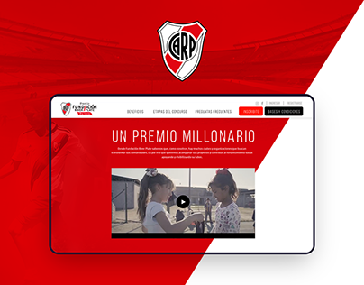 River Plate Foundation Landing page