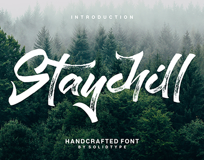 Staychill Brush Font