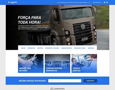 Layout PSD & HTML/CSS | Jodiesel Caminhões