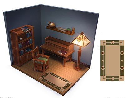 Room Concept (done for the Sims 4)