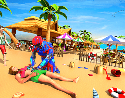 Robot Hero beach rescue