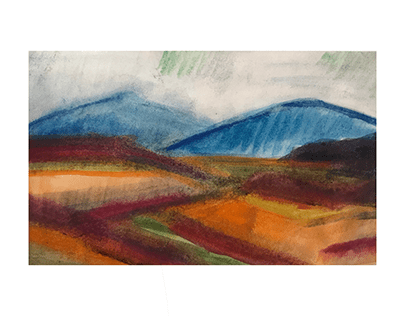 Eastern hills - Watercolour landscapes from Hungary