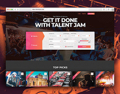TalentJam - Top Talents, Venues & Events [Case Study] ♫
