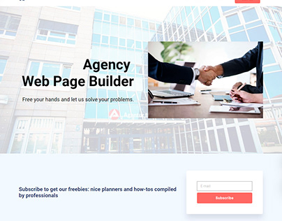 8b Web Page Builder - Agency Theme!