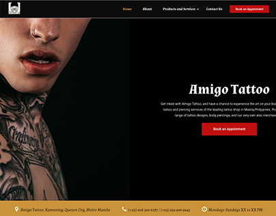 Amigo Tattoo - Web Design and Development