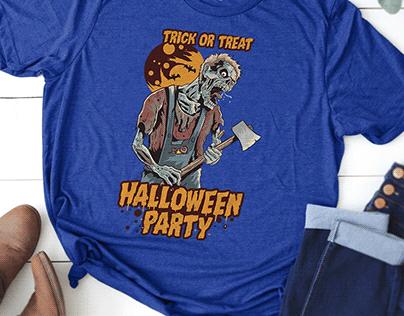 Halloween T-shirt design with free mockup
