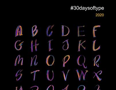 30 Days of Type - 2020