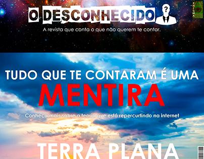 """Revista """"O Desconhecido"""" """"Terra Plana"""""""