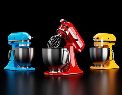 KitchenAid Stand Mixer | 3D Modeling