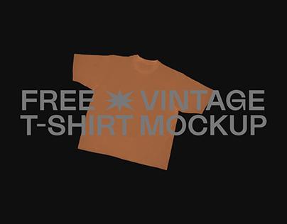 FREE VINTAGE T-SHIRT MOCKUP