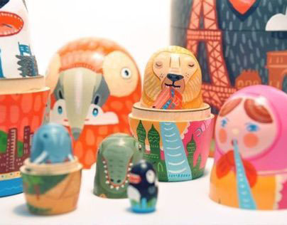 MATRYOSHKA MONSTERS + the CITIES they like to EAT