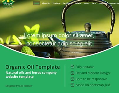 Organic Oil Template - UI Design