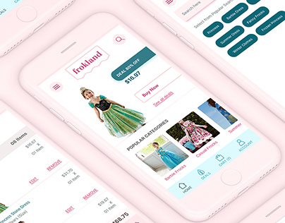 Frokland - eCommerce store app for princesses