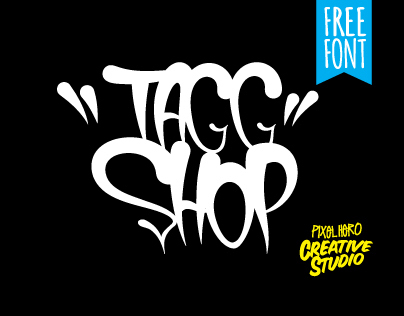 TaggShop Free // Typeface by Pixel Hero