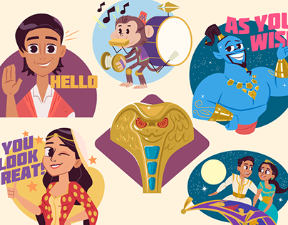Disney Aladdin iOS stickers